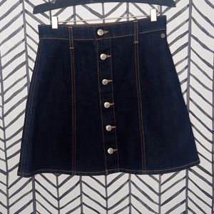 AC for AG Skirt Button UP Denim Jean